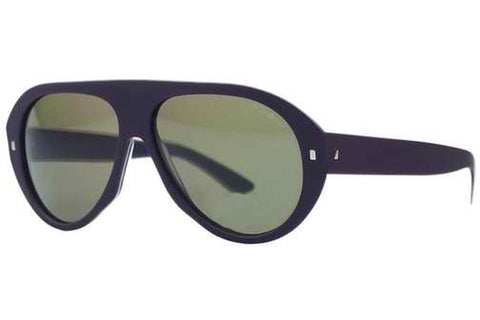 Yves Saint Laurent YSL 2333/S YXP Plum Aviator Sunglasses, Plum Frame, Green 57mm Lenses