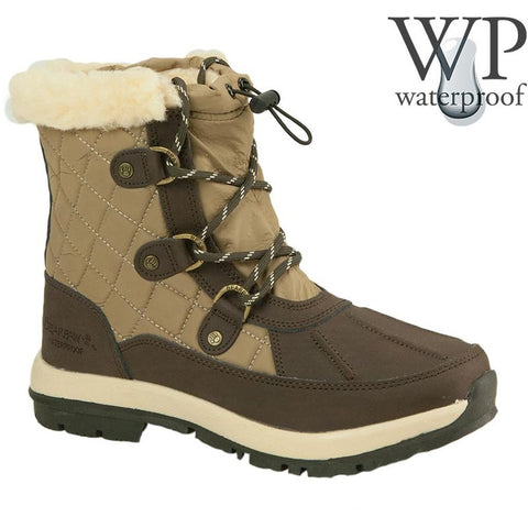 Bearpaw 1845W Women Bethany 6in Tall Boots, Chocolate/Khaki