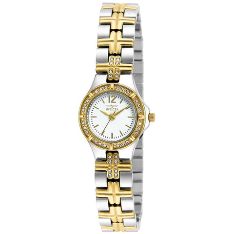 Invicta 19776SYB Wildflower Women's Analog Display Quartz Watch, Two-toned Stainless Steel Band, Round 22mm Case