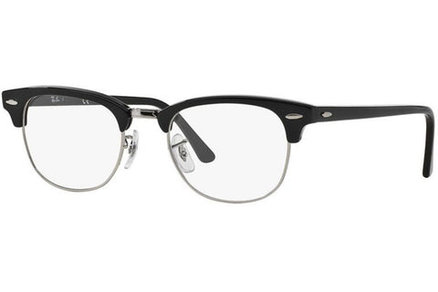 Ray-Ban RX5154 2000 Clubmaster Optics Eyeglasses, Black Frame, Clear 49mm Lenses