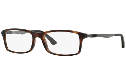 Ray-Ban RB7017 5200 Eyeglasses, Tortoise/Gunmetal Frame, Clear 54mm Lenses