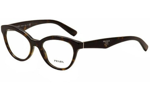 Prada PR11RV 2AU1O1 Eyeglasses, Havana Frame, Clear 50mm Lenses