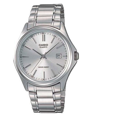 Casio MTP1183A-7A Classic Analog Display Quartz Watch, Silver Stainless Steel Band, Round 38.5mm Case