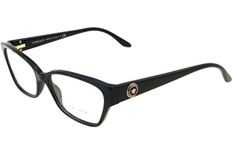 Versace VE3172 GB1 Eyeglasses, Shiny Black Frame, Clear 54mm Lenses