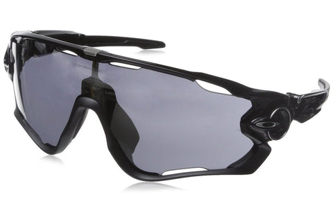 Oakley OO9290-01 Men's Jawbreaker Sunglasses, Polished Black Framed, Black Iridium 31mm Lenses