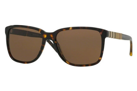 Burberry BE4181 300273 Wayfarer Men's Sunglasses, Dark Havana Frame, Brown Gradient 58mm Lens