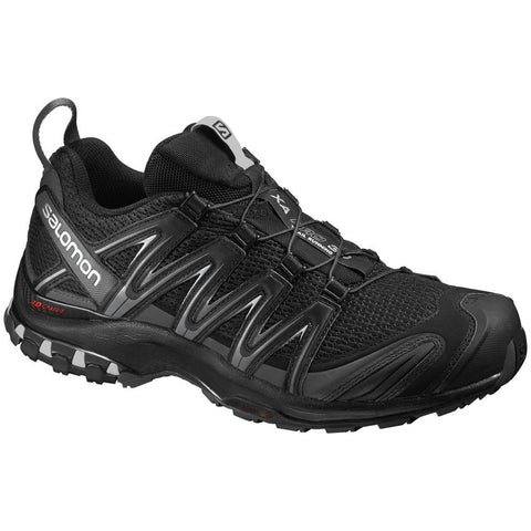 Salomon L35680100-075 Men's XA Pro 3D Trail Running Shoes, Black/Black/Dark Cloud 7.5 US