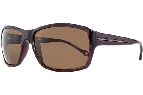 Ermenegildo Zegna SZ3602M Z90P Sunglasses, Transparent Brown Frame, Polarized Brown 61mm Lenses