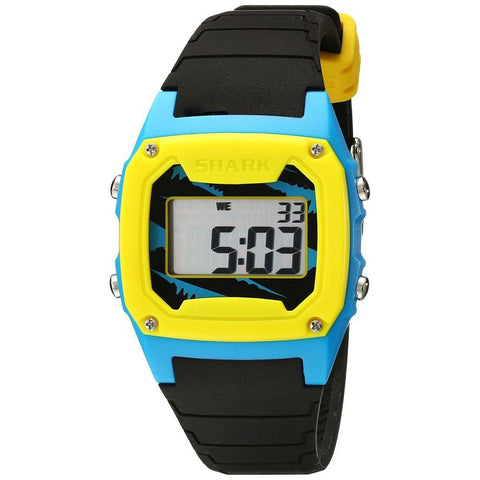 Freestyle Unisex 102001 Shark Classic Digital Watch, Black Silicone Band, Square 37mm Case
