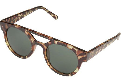 Komono KOM-S1904 Dreyfuss Tortoise Sunglasses, Tortoise Frame, Brown Mirror 50mm Lenses