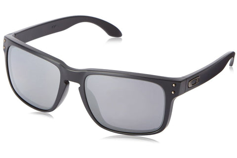 Oakley OO9102-62 Holbrook Sunglasses, Matte Black Frame, Polarized Black Iridium 55mm Lenses