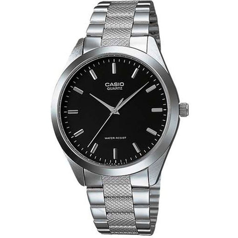 Casio MTP-1274D-1ADF Analog Display Quartz Watch, Silver Stainless Steel Band, Round 36mm Case