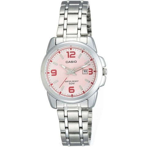 Casio LTP1314D-5AV Women's Analog Display Quartz Watch, Silver Stainless Steel Band, Round 33mm Case