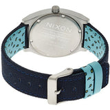 Nixon Men's A0451985 Time Teller Navy/Paisley Dot Analog Watch, Blue Canvas Band, Round 37mm Case