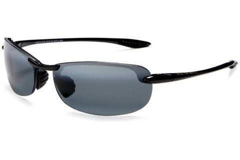 Maui Jim 405-02 Makaha Sunglasses, Gloss Black Frame, Neutral Grey Polarized 64mm Lenses