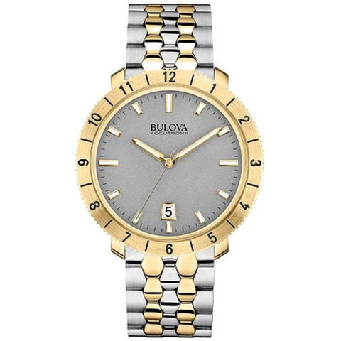 Bulova 98B216 Men's Accutron II Moonview Analog Display Quartz Watch, Two-tone Stainless Steel Band, Round 42mm Case