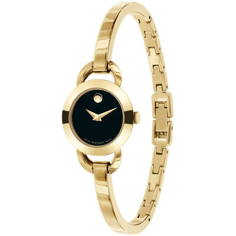 Movado 0606888 Rondiro Analog Display Quartz Watch, Yellow Gold Stainless Steel Band, Round 22mm Case