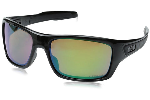 Oakley OO9263-13 Men's Turbine Sunglasses, Polished Black Frame, Polarized Prizm Fresh Water 63mm Lenses