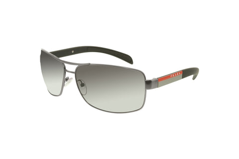 Prada PS 54IS-7CQ5W1-65 Linea Rossa Sunglasses, Gunmetal Frame, Polarized Gray Gradient 65mm Lenses