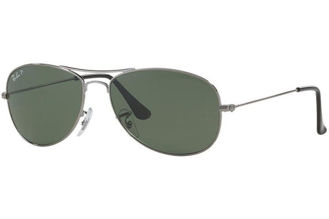 Ray-Ban RB3362-004 Cockpit Aviator Sunglasses, Gunmetal Frame, Green 59mm Lenses
