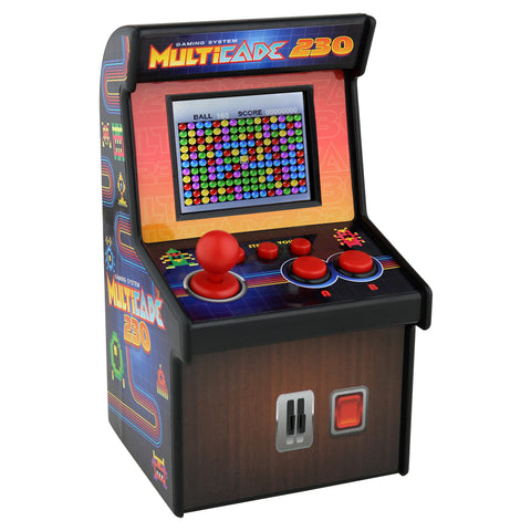 SoundLogic XT Multicade 230 Miniature Retro Arcade Video Game Machine, Black