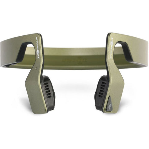 AfterShokz AS500SM Bluez 2S Wireless Bone Conduction Bluetooth Headphones, Green Metallic