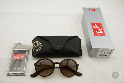 Ray-Ban RB4222 865/13 Sunglasses, Tortoise Frame, Brown Gradient 50mm Lenses