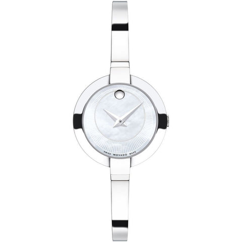 Movado 0606616 Bela Analog Display Quartz Watch, Silver Stainless Steel Band, Round 25mm Case
