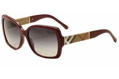 Burberry BE4160-3403-8G Women's Sunglasses, Bordeaux Frame, Gray Gradient 58mm Lenses