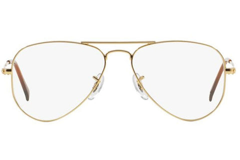 clear ray ban eyeglass frames  ray ban rb6049 2500 aviator optics eyeglasses, gold frame, clear 55mm lenses