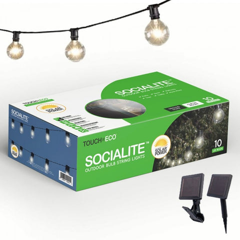 SOCIALITE TOE062 Solar Powered Patio String Lights