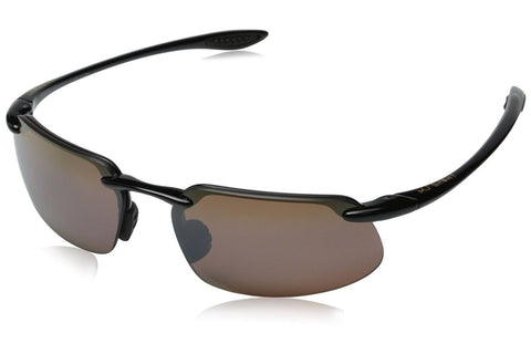 Maui Jim H409-02 Men's Kanaha Sunglasses, Gloss Black Frame, HCL Bronze Polarized 61mm Lenses