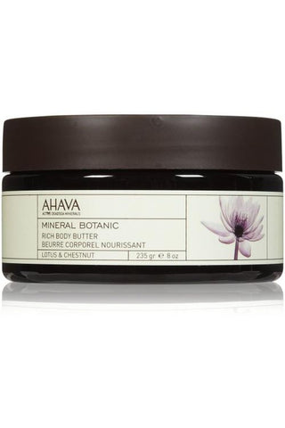 Ahava Mineral Botanic Body Butter Lotus & Chestnut 8 Oz