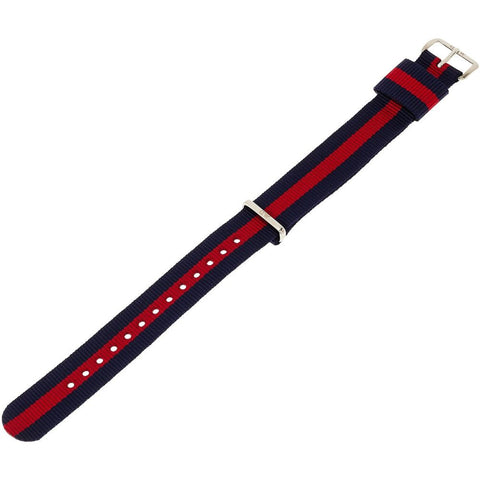 Daniel Wellington 0801DW Classic Oxford, Striped Nylon Band, 18mm Width