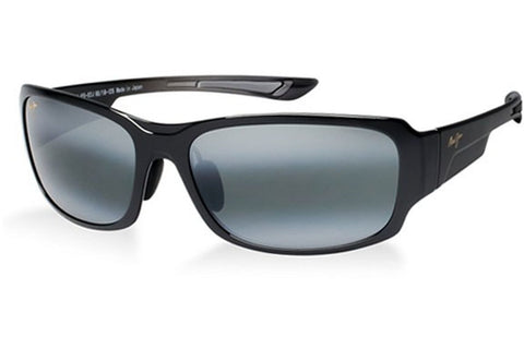 Maui Jim 415-02J Bamboo Forest Sunglasses, Gloss Black Fade Frame, Polarized Neutral Gray 60mm Lenses