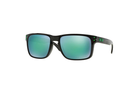 Oakley OO9102-69 Holbrook Sunglasses, Black Ink Frame, Polarized Jade Iridium 55mm Lenses