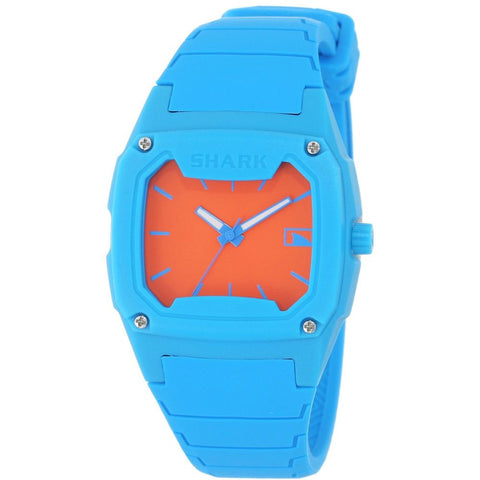 Freestyle Women's 102294 Shark Classic Analog Watch, Blue Silicone Band, Tonneau 37mm Case
