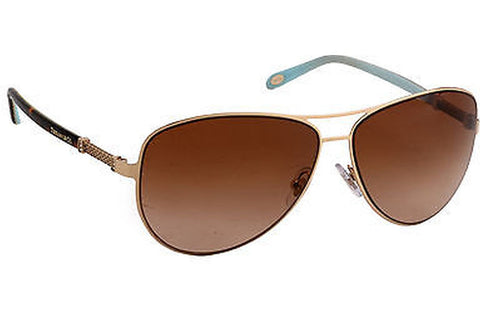 Tiffany TF3048B-60913B-60 Women's Sunglasses, Gold Frame, Brown 60mm Lenses