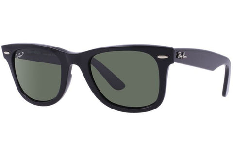 Ray-Ban RB2140 901/58 Original Wayfarer Classic Sunglasses, Black Frame, Polarized Green 54mm Lenses