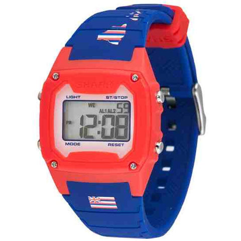 Freestyle Unisex 10022123 Classic Hawaii Digital Watch, Blue Silicone Band, Tonneau 38mm Case