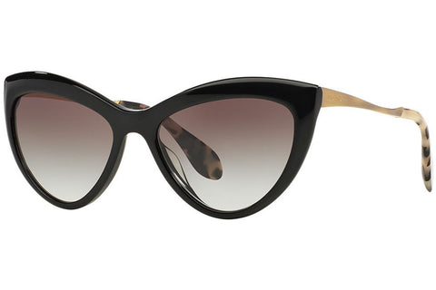 Miu Miu MU 08OS 1AB0A7 Sunglasses, Black Frame, Gray Gradient 54mm Lenses