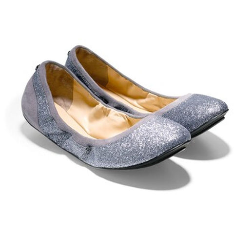 Cole Haan D42304 Avery Ballet Flats Women's Shoes, Storm Cloud Glitter