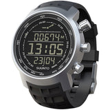 Suunto SS014522000 Elementum Terra Digital Display Quartz Watch, Black Silicone Band, Round 51.5mm Case