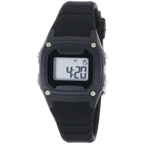 Freestyle Unisex 102273 Shark Classic Mini Black Digital Watch, Black Silicone Band, Tonneau 30mm Case