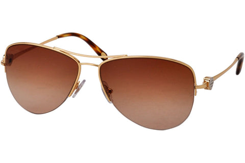 Tiffany TF3021 60023B Sunglasses, Gold Frame, Brown Gradient 57mm Lenses