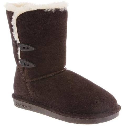 Bearpaw 682W-205-M050 Women's Abigail 8in Tall Boots, Chocolate, Size 5 M US