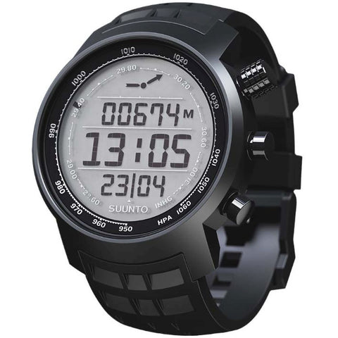 Suunto SS018732000 Elementum Terra Black Rubber / Light Display Digital Display Quartz Watch, Black Silicone Band, Round 51.5mm Case