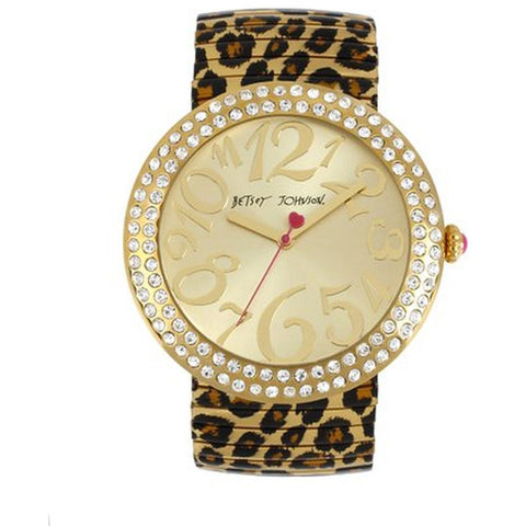 Betsey Johnson BJ00214-02 Analog Display Quartz Watch, Multicolor Stainless Steel Band, Round 48mm Case