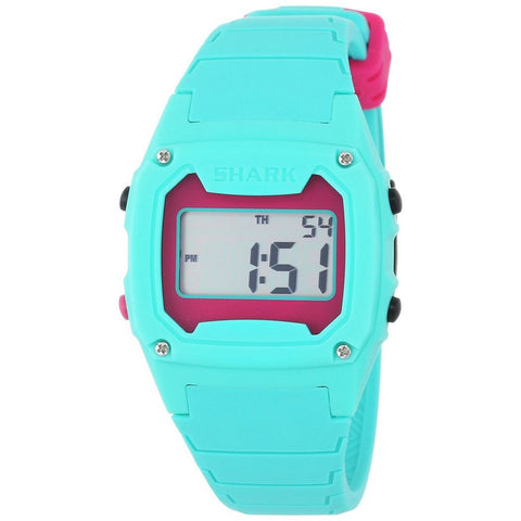 Freestyle Unisex 102281 Shark Classic Digital Watch, Blue Silicone Band, Tonneau 38mm Case
