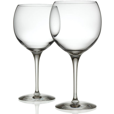 Alessi SG119-0S2 Mami XL Red Wine Glasses, Set of 2, 8 3/4in H x 4 1/4in Diameter, 23oz.